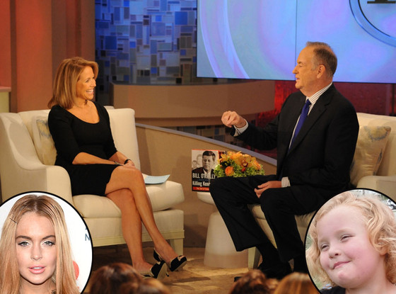 Katie Couric, Bill O'Reilly, Honey Boo Boo, Lindsay Lohan