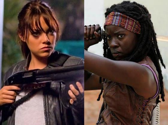 Emma Stone, Zombieland, Danai Gurira, Walking Dead