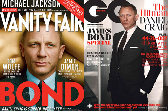 Daniel Craig, Vanity Fair, GQ UK