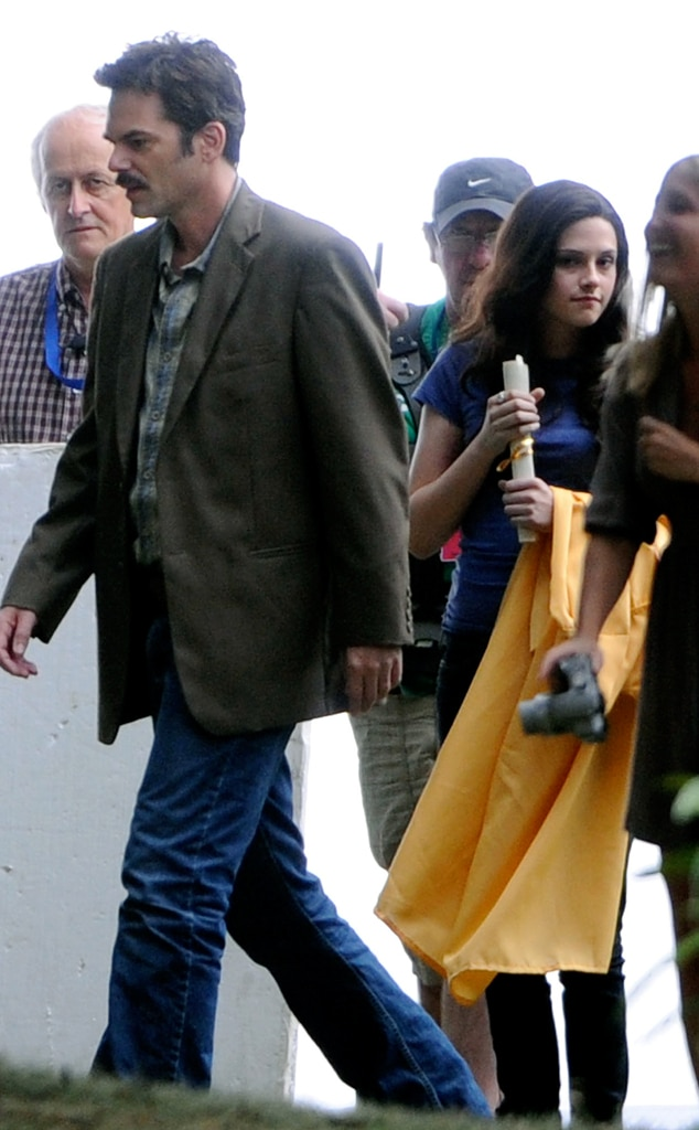 Billy Burke, Kristen Stewart, Eclipse set