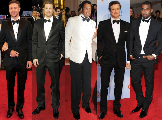 Justin Timberlake, Brad Pitt, Jay-Z, Colin Firth, Kanye West