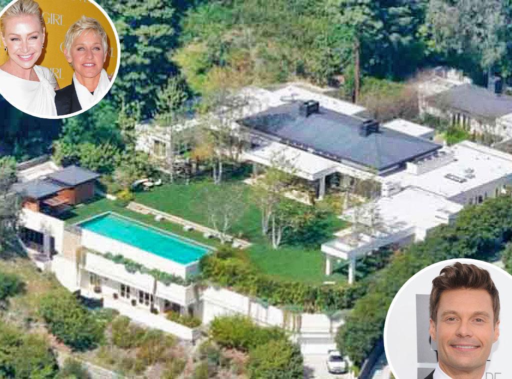 Ryan Seacret, Ellen Degeneres, Portia De Rossi, Beverly Hills Home