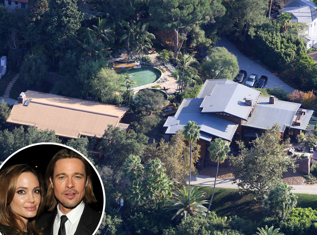 Brad Pitt, Angelina Jolie, Los Feliz Home