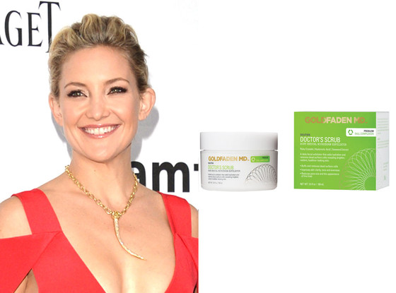 Kate Hudson, Goldfaden Facial Scrub