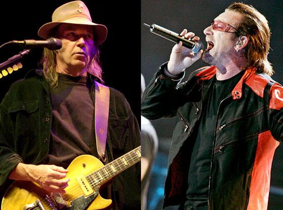 Bono, Neil Young