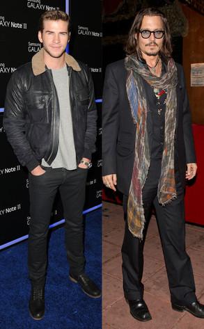 Liam Hemsworth, Johnny Depp