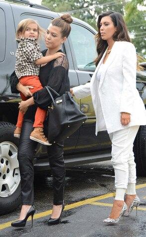 Kim Kardashian, Kourtney Kardashian, Mason