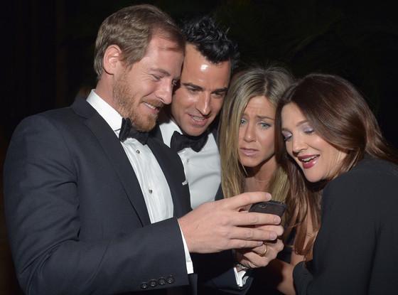 Will Kopelman, Justin Theroux, Drew Barrymore, Jennifer Aniston