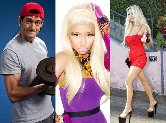 Paul Ryan, Nicki Minaj, Courtney Stodden