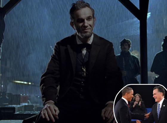 Lincoln Movie, Barack Obama, Mitt Romney