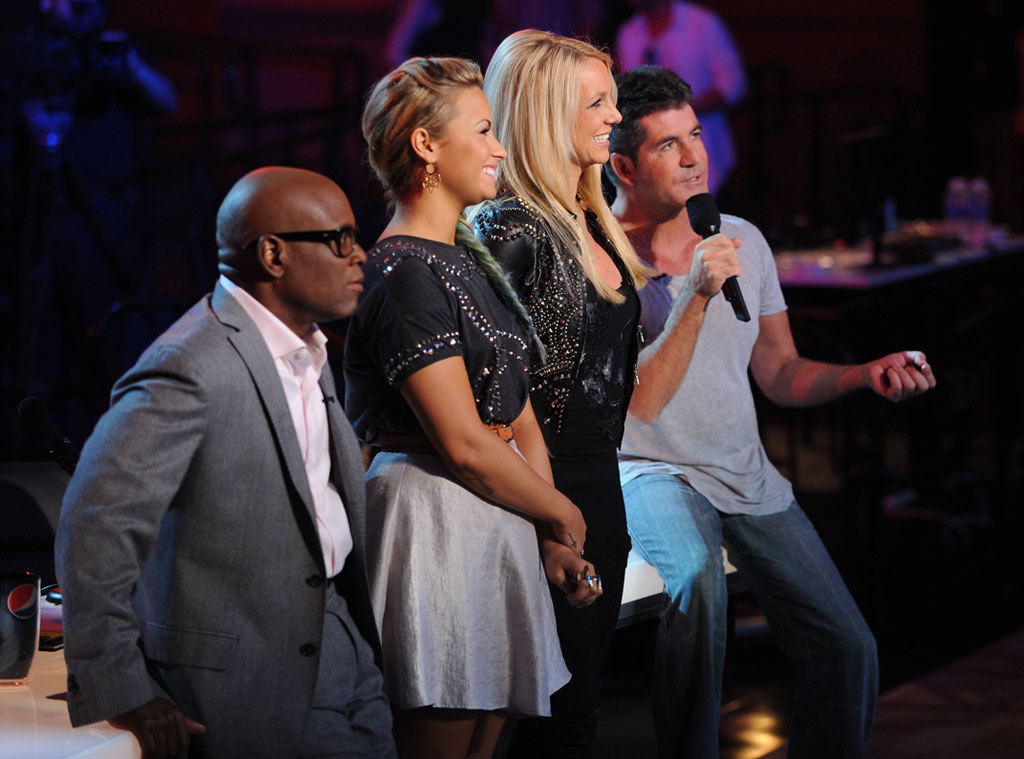L.A. Reid, Demi Lovato, Britney Spears, Simon Cowell,  THE X FACTOR Judges