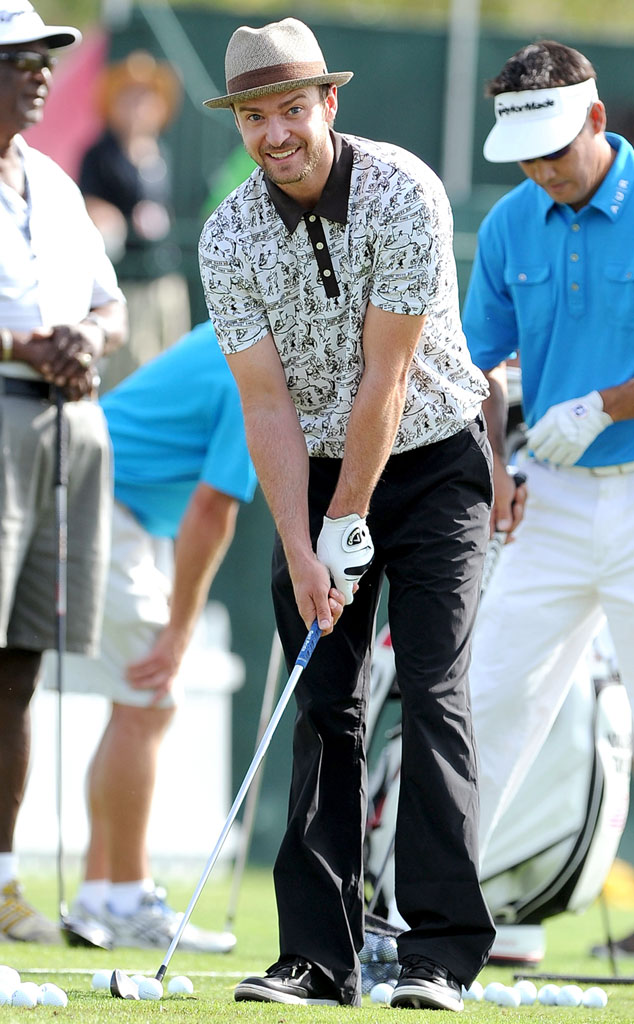 Celebs as Olympians, Justin Timberlake