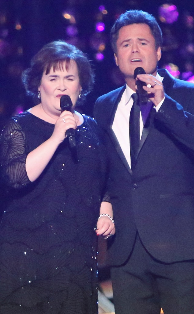 Donny Osmond, Susan Boyle, Dancing with the Stars Performance
