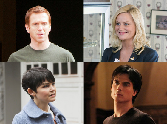 Ginnifer Goodwin, Once Upon a Time, Ian Somerhalder, Vampire Diaries, Amy Poehler, Parks and Rec, Damian Lewis, Homeland