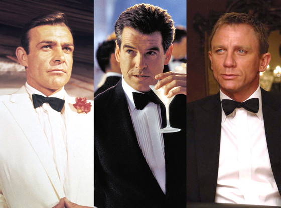 Pierce Brosnan, Sean Connery, Daniel Craig