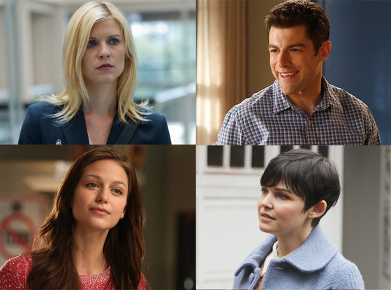 Claire Danes, Homeland Max Greenfield, New girl Ginnifer Goodwin, Once Upon a Time Melissa Benoist, Glee