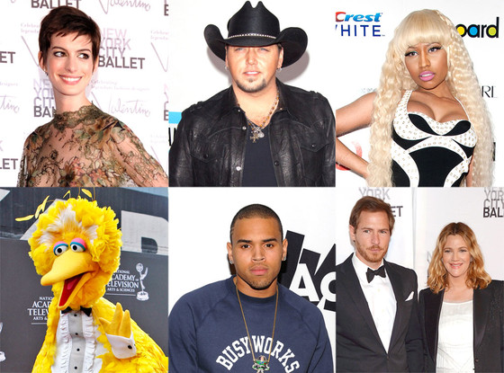 Week in Review: Chris Brown, Big Bird, Nicki Minaj, Jason Aldean, Anne Hathaway, Drew Barrymore
