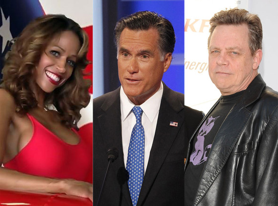 Mitt Romney, Mark Hamill, Stacey Dash