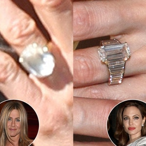 Jennifer Aniston vs Angelina Jolie Battle of the Diamond