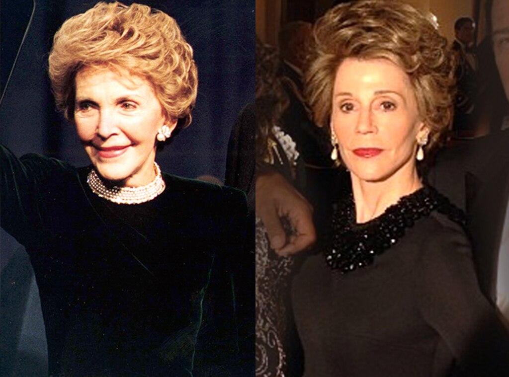 Jane Fonda, Nancy Reagan