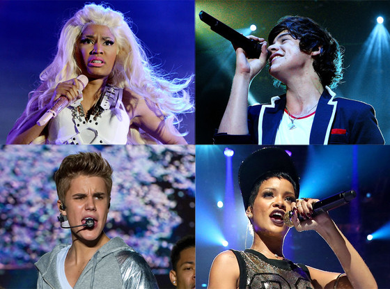 AMA Nominees, Nicki Minaj, Rihanna, Justin Bieber, One Direction