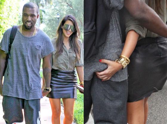 Kanye west and kim kardashian butt grab has analogues?