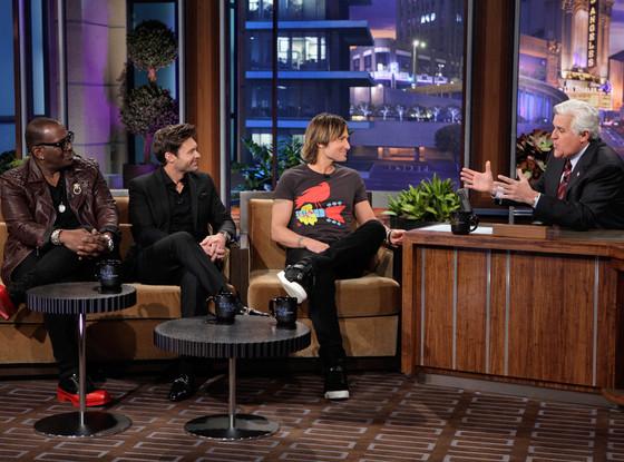 Ryan Seacrest, Randy Jackson, Keith Urban, Jay Leno