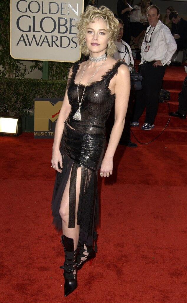 Sharon Stone, Golden Globes, 2003