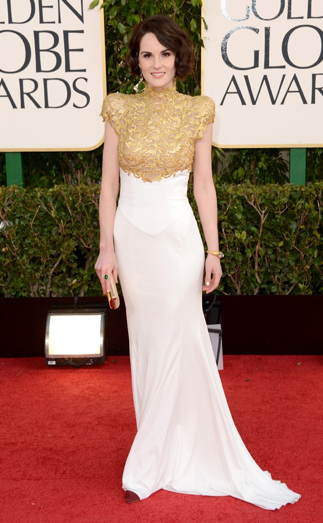 ESC: Michelle Dockery, Golden Globes 2013, Riskiest Looks
