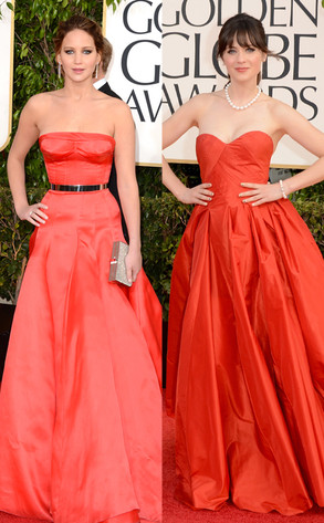 Jennifer Lawrence, Zooey Deschanel, Golden Globe