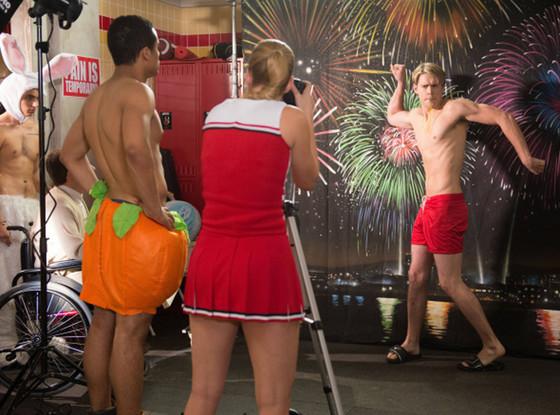 Glee, Samuel Larsen, Chord Overstreet, Jacob Artist, Blake Jenner and Darren Criss