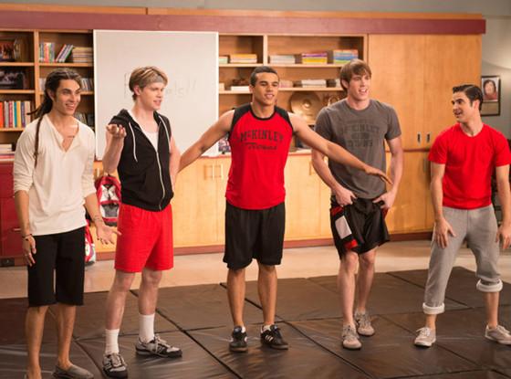 Glee, Jacob Artist, Heather Morris, Blake Jenner and Chord Overstreet