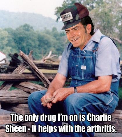 Grandpa Charlie Sheen