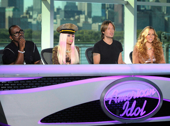 Randy Jackson, Nicki Minaj, Keith Urban, Mariah Carey, AMERICAN IDOL