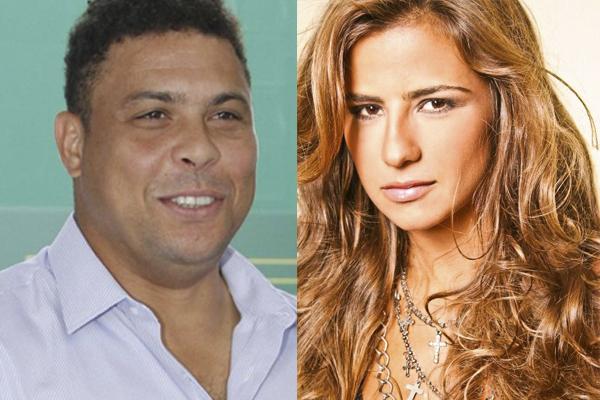 Ronaldo e a DJ Paula Morais