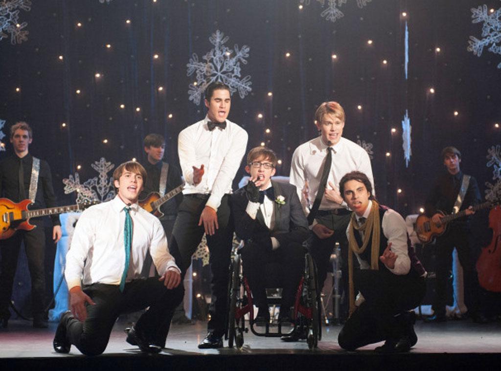 GLEE, Blake Jenner, Darren Criss, Kevin McHale, Chord Overstreet and Samuel Larsen