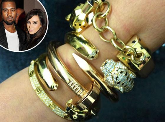 Kim Kardashian, Kanye West, Cartier Bracelets