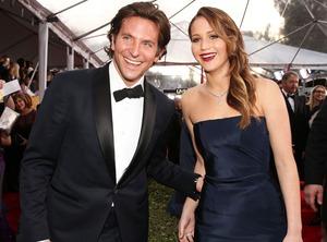 Bradley Cooper, Jennifer Lawrence, SAG Candids