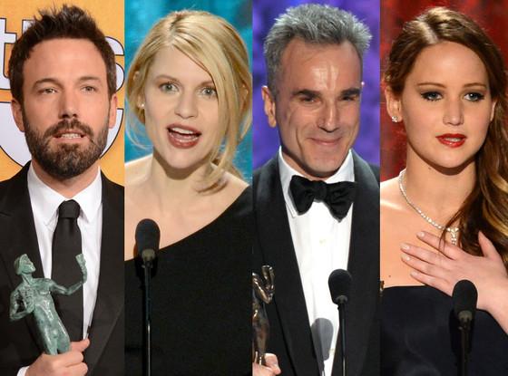Jennifer Lawrence, Ben Affleck, Daniel Day Lewis, Claire Danes, SAG Best Worst