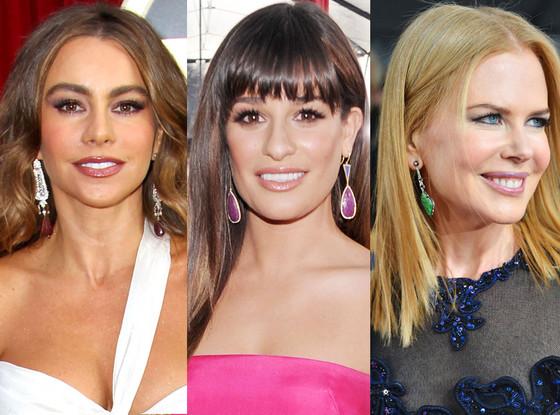SAG Earrings Trends, Sofia Vergara, Lea Michele, Nicole Kidman