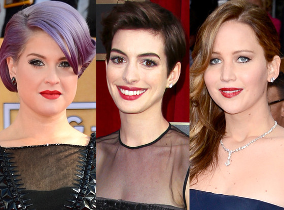 Lips, Kelly Osbourne, Anne Hathaway, Jennifer Lawrence, SAG Awards