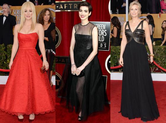 Riskiest Looks, Anne Hathaway, Jane Lynch, Kaley Cuoco