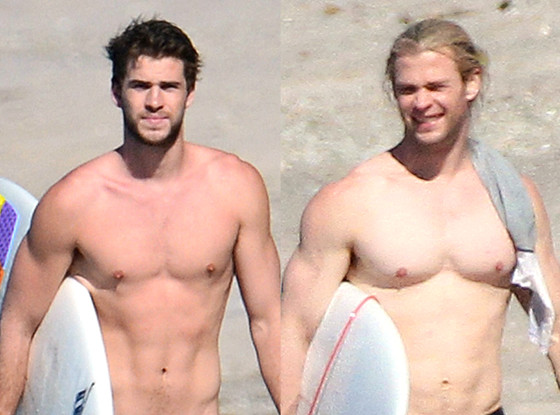 Best Male Body Tournament, Liam Hemsworth, Chris Hemsworth