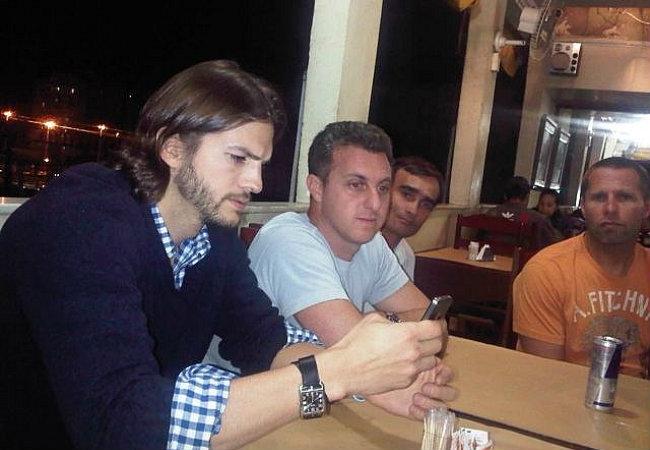 Luciano Huck e Ashton Kutcher