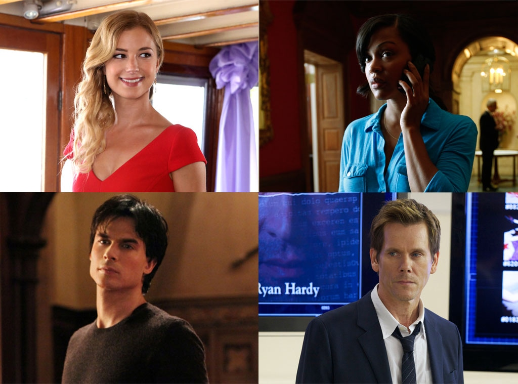 Ian Somerhalder, The Vampire Diaries, Emily VanCamp, Revenge, Kevin Bacon, The Following, Meagan Good, Deception