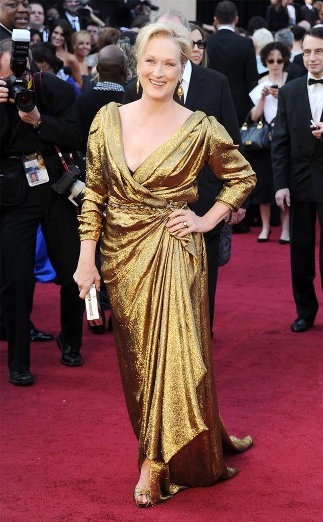 2012 from Meryl Streep's Oscar Looks Through the Years | E ...