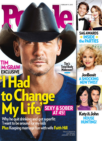Tim McGraw, People Magazine cover