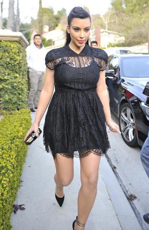 Kim Kardashian: barriga de grávia