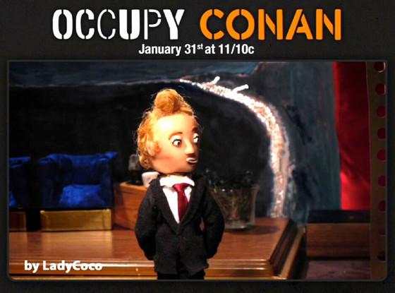 Conan, Puppet, Occupy Conan