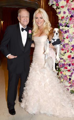 Crystal Harris, Hugh Hefner, Wedding Dress